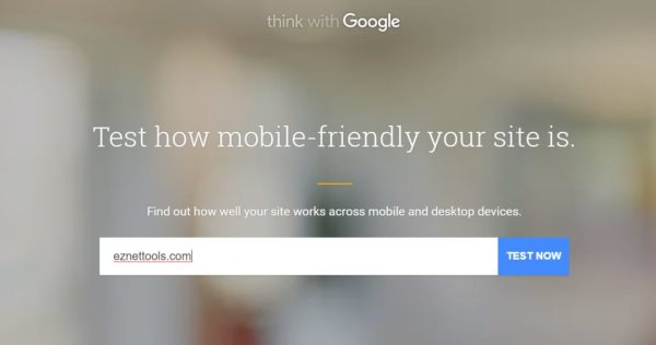 mobile-friendly site test