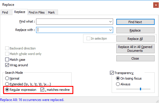 Advanced Find and Replace in Notepad++ - Launch 2 Success